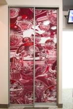 гардероби с принт стъкла с надстройка
