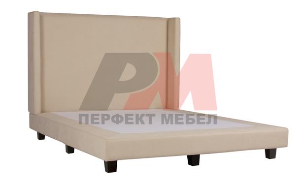 Поръчкова изработка на луксозни тапицирани легла с голяма табла
