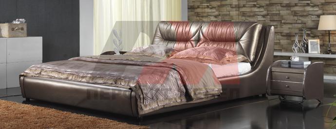 Тапицирани легла с естествена кожа по Ваши размери