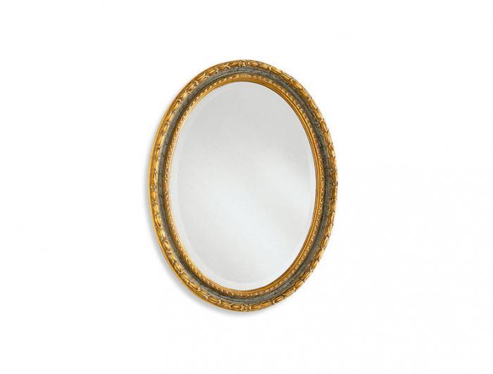 Позлатено овално италианско огледало