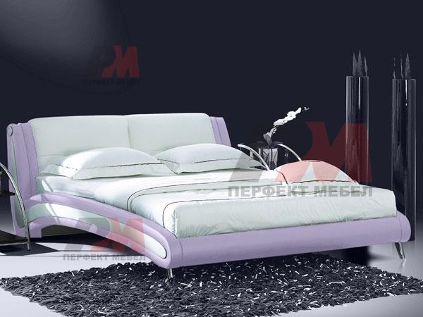 Спални с еко кожа, с тапицирани табли