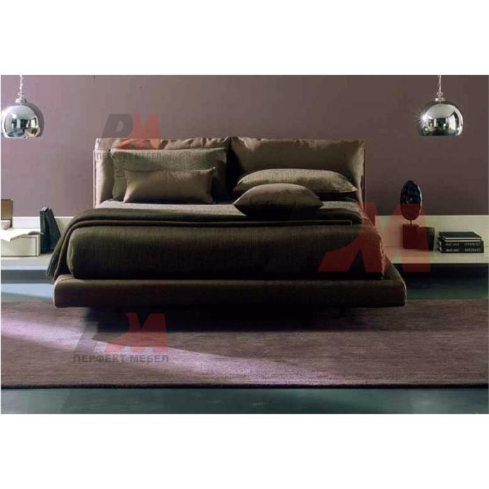 Тапицирано легло с еко кожа, с механизъм за повдигане