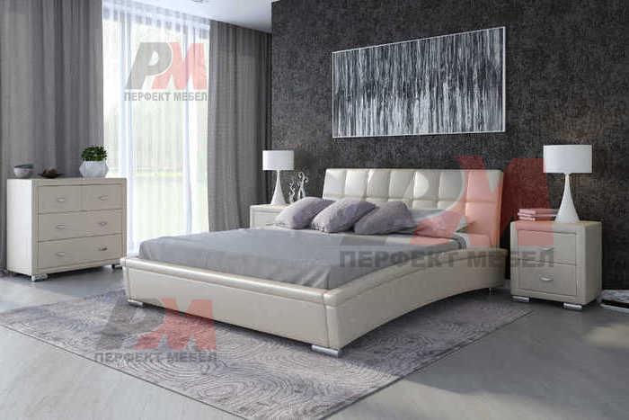 Тапицирани спални с еко кожа, в различни цветове