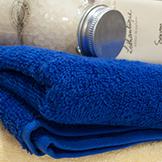 Синя кърпа за тяло, 70x140, 450гр./м2